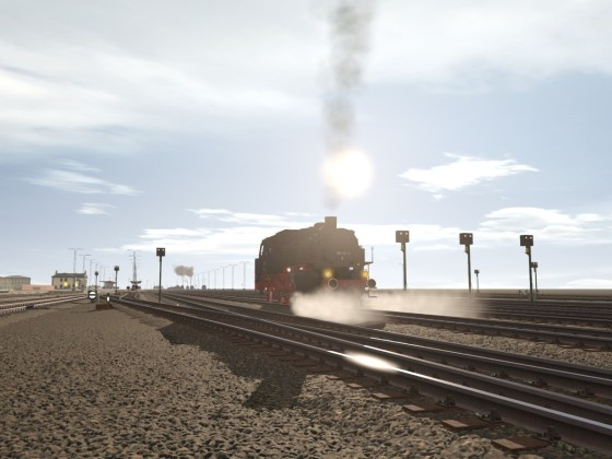 Baureihe 86 in der Nachmittagssonne
