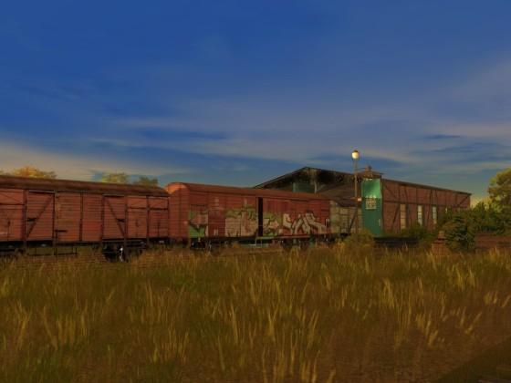 vergessene Güterwagen