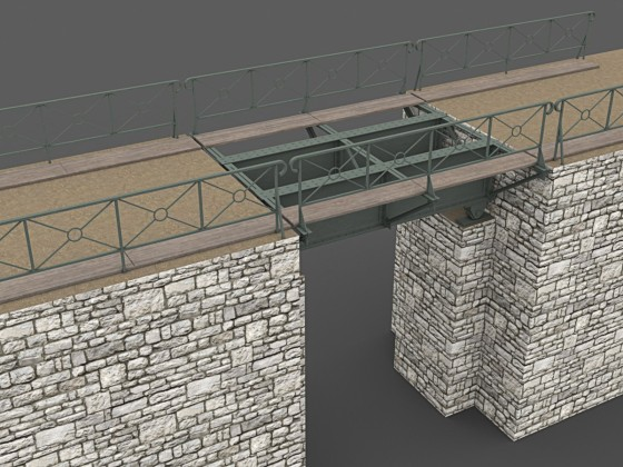 Small Girder Plate Bridge / Kleine Blechtraegerbruecke