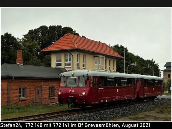 Sonderzug Press Bergen (Rügen) - Lüneburg im Bahnhof Grevesmühlen
