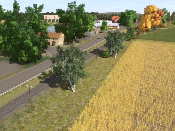 Vorwerk mit Haltepunkt und weiter nach Schöneberg