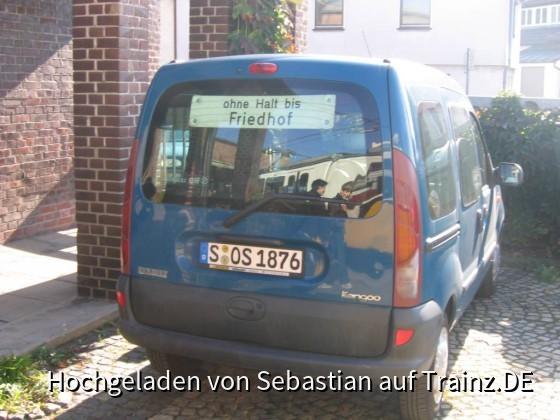 Auto am Tramdepot