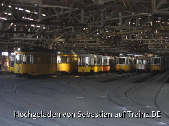Blick in die Tram-Halle