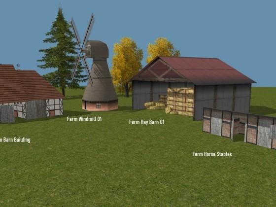 Farm  -Windmill - Barns - Stable