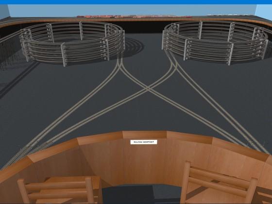 Rail Fan Area with new floor.