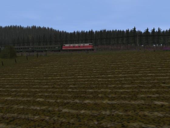P mit Kurswagen bei Oberweidenberg