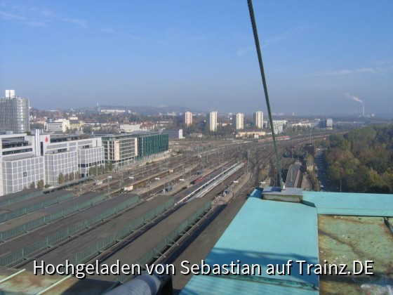 Blick vom Bahnhofsturm
