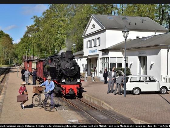Fotozug Bäderbahn Molli 2019