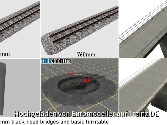 EMT Track, bridges, turntable.