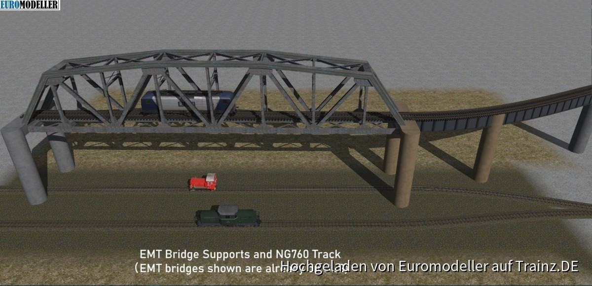 EMT Bridge Supports and 760mm Track