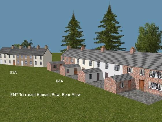 EMT Terraced Houses Row 3a, 4a Rear