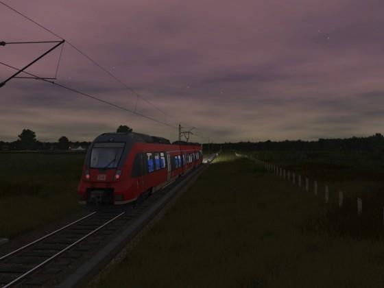 Abendliche Regionalbahn