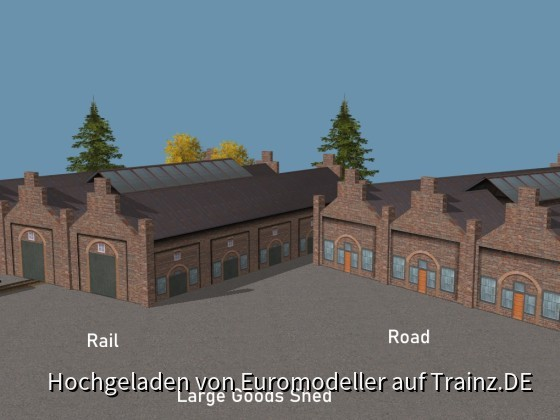 Large Goods Shed Rail + Road - Gueterschuppen