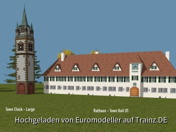 Town Clock + Town Hall (Rathaus)