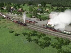 Zugbegegnung in Oberweistritz