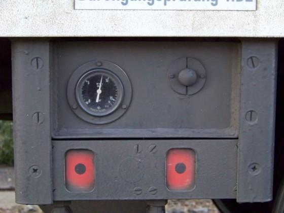 Bremsanzeigen eines Dosto-Wagens