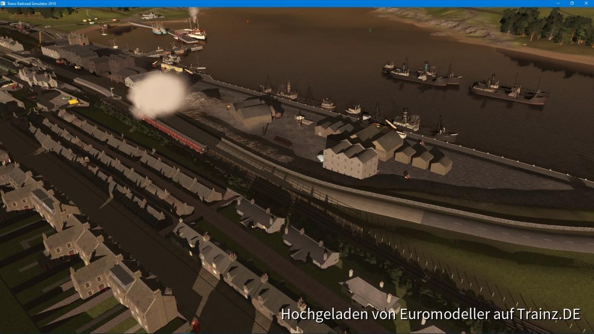 The harbour at Carrachmuir (fictional)