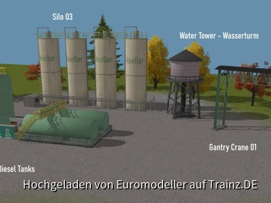 Silos, Diesel Tanks, Water Tower, Overhead Crane