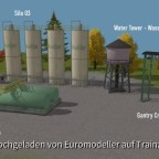 Silos, Diesel Tanks, Water Tower, Overhead Crane