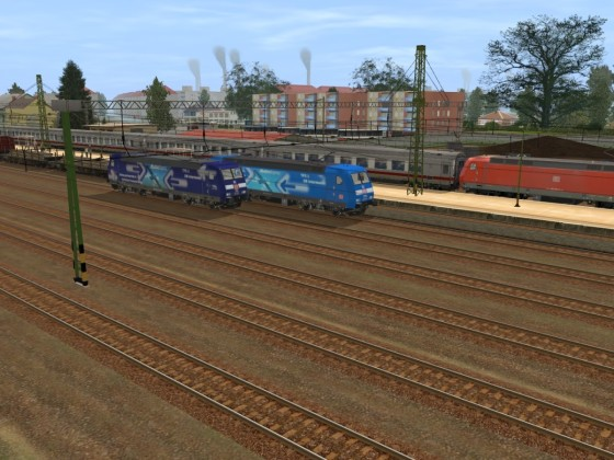 DB Br 152 135-0 Albatros Express & DB BR 145 72-5