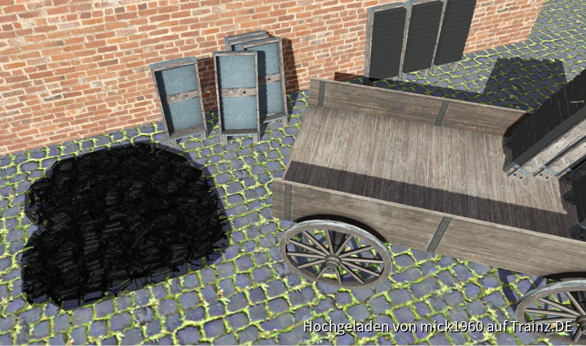 pbrmetall mit POM (Parallax Occlusion Mapping)