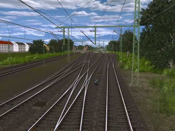 Strecke in Bauphase