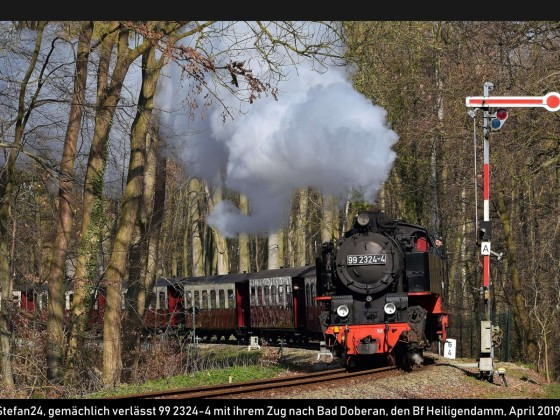 Bäderbahn Molli in Heiligendamm 2019