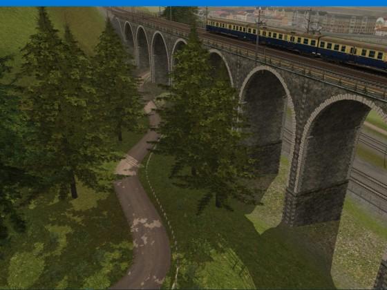 EN57 on the viaduct