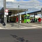 Der Bus- und Trambahnhof von Cottbus