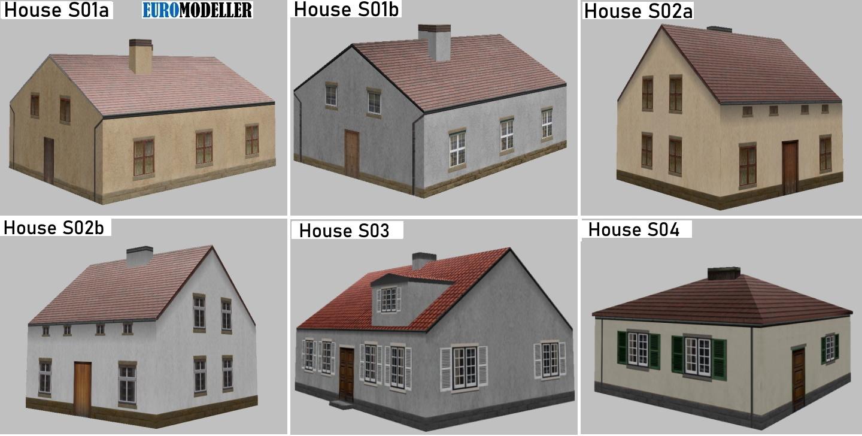 Euromodeller EMT Houses S01 - S04