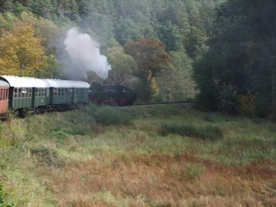 Foto des Zuges auf der Rückfahrt