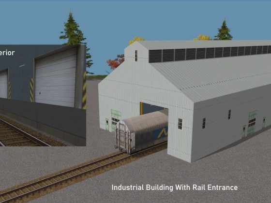 Industrial Building with rail entrance