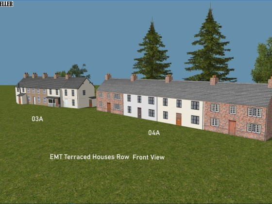 EMT Terraced Houses Row 3a, 4a Front