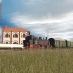 Eine BR91 auf dem Weg zum Ablaufberg