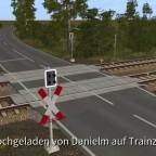 Kleines Bahnübergangsdiorama