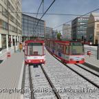 Das Rollband klemmt - Stadtbahner am Barbarossaplatz