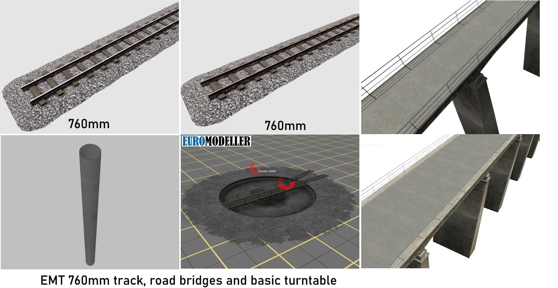 EMT Track, bridges, turntable.