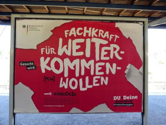 Gesehen auf dem S-Bahnhof Heerstrasse