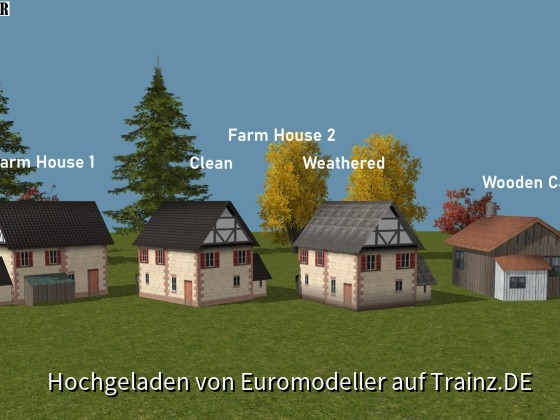 Farm Houses and Wooden Cabin