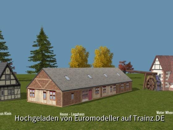 Houses - FWH klein - Langhaus - Water Wheel