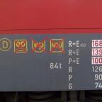 Bremsanschriften einer BR 146.1
