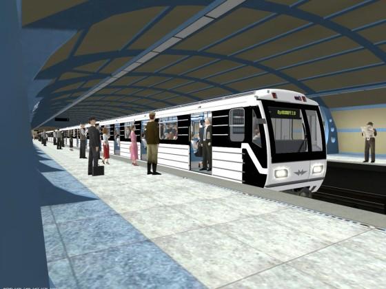 Hungarian Budapest M3 subway