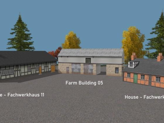 Houses- Fachwerkhaus 11 + 12 + Farm Building 05