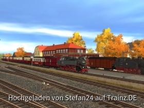 Goldener Herbst im Bahnhof Kühlungsborn West