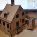 Bedre Byggeskik -  House type F,  laser cut prototype in Spur 0 (WIP)