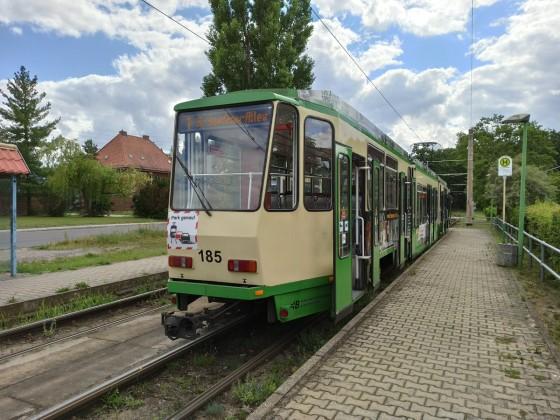 Straßenbahn von Hinten