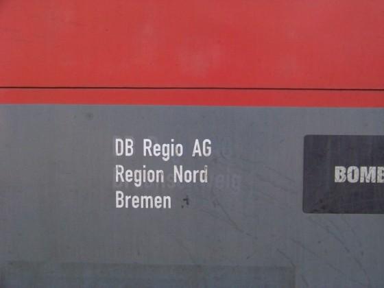 Betreiberaufdruck einer BR 146.1