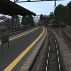 Der Bahnhof Chisana Minato. Hier wird die Strecke zumteil eingleisig.