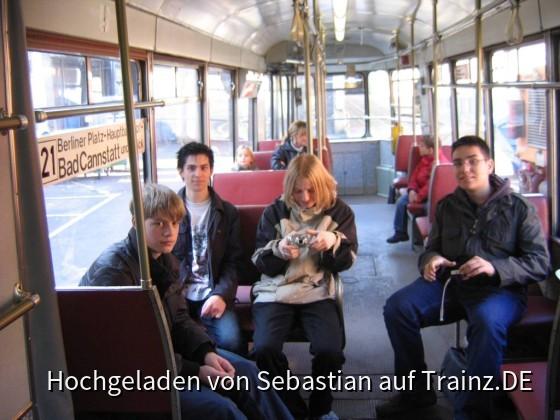 In der Tram...